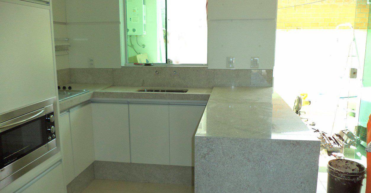 Extremamente Cozinha em Granito Branco Itaúnas – Marmorial – Revestimentos  IZ24